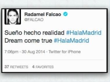 falcao tweet framed